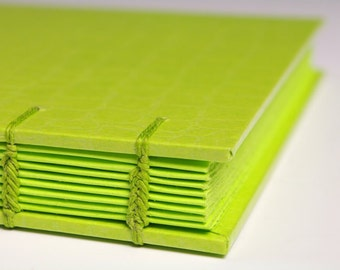 Handmade Journal - Key Lime MonoJournal