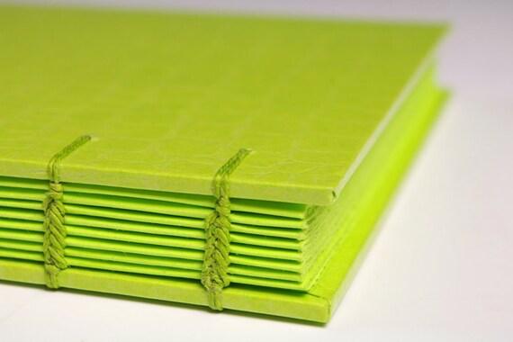 Handmade Journal - Key Lime MonoJournal