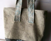SALE large patchwork and wool tote
