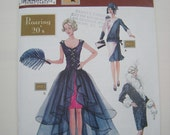 Simplicity Roaring 20's Doll Collectors Club Pattern 9664 Barbie UNCUT NEW 1920's Flapper Fashion Dress Coat Purse Costume Theresa LaQuey