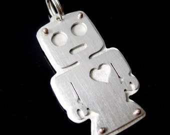 Robot tag, your info on back