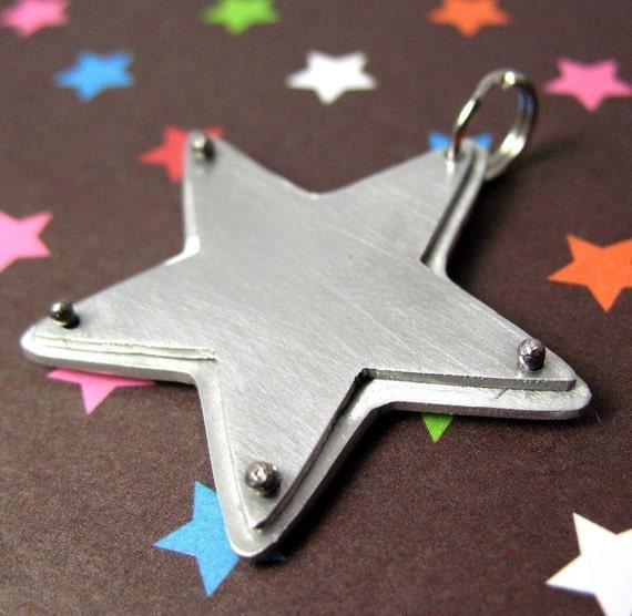 Star Pet Tag, Custom made
