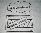 Schroedingers Lol Cat adult t-shirt