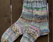 Knittycowgirl's handknit Monster socks Ladies 9-10.5, mens 7.8.5