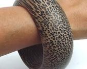 BIG & BOLD wooden bracelet bangle cuff natural palmwood