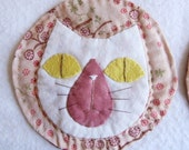 Cat large size coasters - set of 4 -