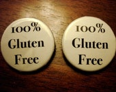 1.25inch Gluten Free Pin\/Badge
