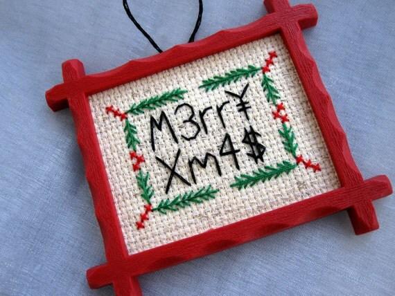 L337 merry xmas ornament