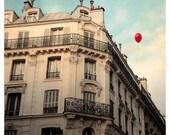 Paris Photograph - Balloon Photograph - French Photography - Red Balloon - Fine Art Photograph- Le Ballon Rouge - Alicia Bock
