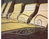 Polaroid Photograph - Lounge Chairs - Yellow Pool Chairs - Mackinac - Grand Hotel - Polaroid Photography - Fine Art Polaroid - Alicia Bock