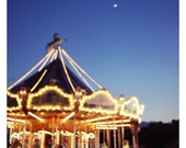 Carnival Photograph - Paris Photography - French Photograph - City - Carousel - Fine Art - Crescent Moon Over Paris