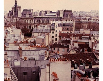 Paris Photography - Paris Rooftops 3 Photograph - French Photography - Paris Skyline - Fine  Art Photograph - Oversized Art - Alicia Bock