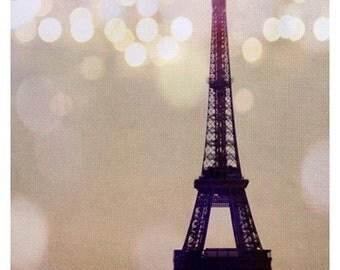 Landscape Art - Eiffel Tower Photograph - Paris Photography - French Photograph - Paris Art - Eiffel Tower Art - Lumiere - Purple Art Print