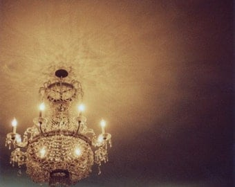 Polaroid Photograph - Chandelier - Everything That Was Good - Fine Art Photograph - Alicia Bock - Home Decor - Romance - Neutral Decor