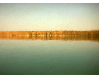 Michigan Photograph - Landscape Photograph - Water - Sky - Michigan - Fine Art Photograph- Sage - Travel Art - Green - Yellow - Alicia Bock