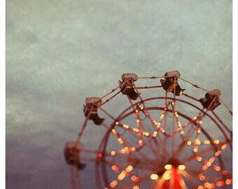 Ferris Wheel Photograph - Fine Art Photography - Summer Art - Fair Art - Fine Art Photgraph - Starlight, Starbright - Home Decor - Wall Art