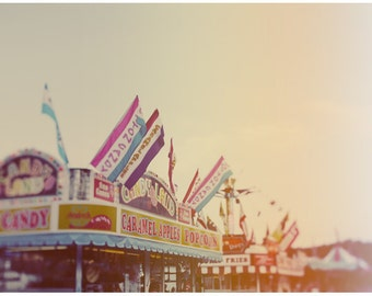 Carnival - Fair - Summer Photograph - Food Photography - All Things Good  - Original Fine Art Photograph - Summer Art - Alicia Bock - Pink