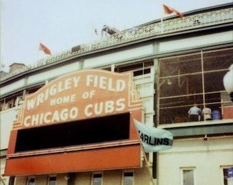 The Cubs Win On Sunday - Polaroid Photograph - Chicago Print - Wrigley Field Art - Cubs Print - Baseball Art - Alicia Bock - Polaroid Print