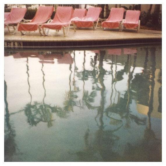 Polaroid Photograph - Summer Print - Swimming Pool Print - Polaroid Pool Photograph - Tuesday's Today - Polaroid Print - Oversized Art -Bock