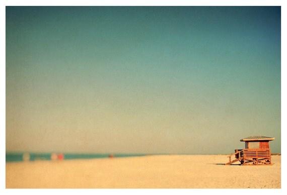 Fine Art Photograph - Beach Photography - Nature Photography - Lido Revisited - Florida Art - Lifeguard - Blue Sky - Summer- Fine Art Photo