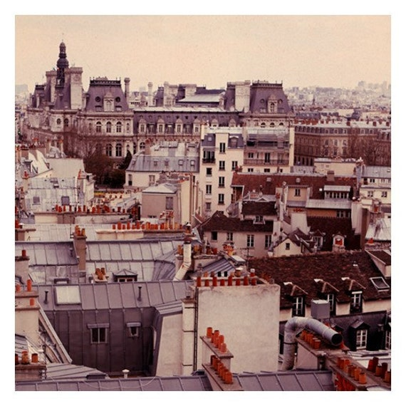 Paris Rooftop 3- Original Signed Fine Art Photograph