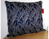 Vintage Navy Floral Pillow