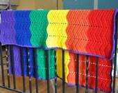 Gay Pride Ripple Baby Blanket - LGBT