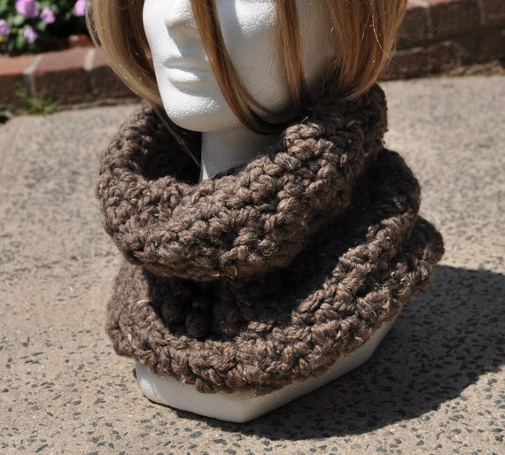 The Hat Trick - It's a Hood, It's a Hat, It's a Cowl - Barley (Wool / Acrylic Blend) Fall Cowl