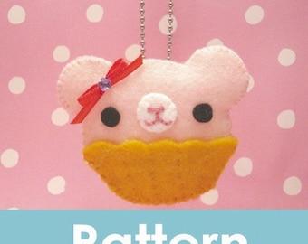 Amigurumi Kingdom Felt Cupcake bear plushie pattern