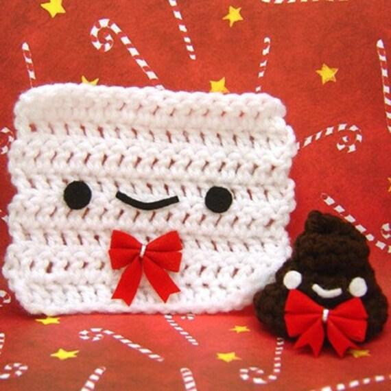 Amigurumi Christmas Mr Poop and Mr Toilet Paper