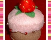 Felt Food  Strawberry Shortcake