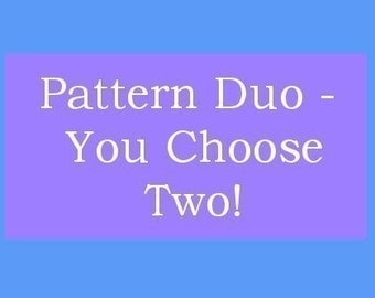 NEW - You Choose Two - Crochet Hat Pattern Duo