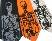 Skeleton Silk Necktie    Choose Your Color