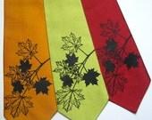Maple Leaves Silk Necktie