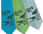 Sparrow Silhouettes Silk Tie