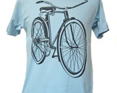 Men's Light Blue Bicycle T-shirt