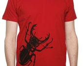 Men's Stag Beetle T-shirt Red
