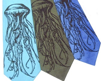 Sea Nettle Jellyfish Silk Tie