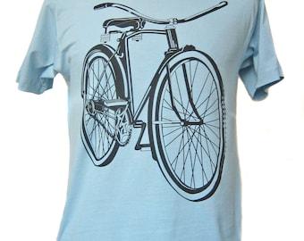 Men's Light Blue Bicycle T-shirt
