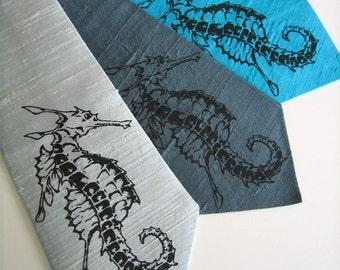 Seahorse Silk Tie