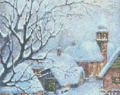 Wintery Days Counted Cross Stitch Pattern PDF 099