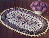 INSTANT DOWNLOAD 1950 Passion Flower Ruffle Doily Vintage Crochet Pattern PDF 059