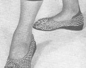 INSTANT DOWNLOAD 1949 Irish Lace Slippers Vintage Crochet Pattern PDF 251