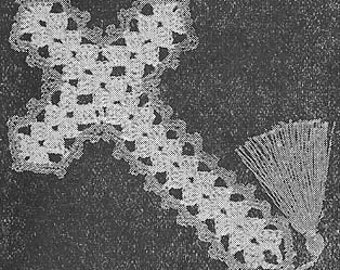 1946 Bible Bookmark Vintage Crochet Pattern PDF Instant Download 217