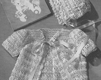 1948 Lacy Pram Set Vintage Crochet Patterns PDF Instant Download 032