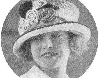 1922 Pretty Hat Instant Download Vintage Crochet Pattern PDF 011