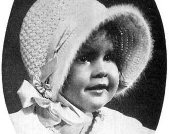 1929 Poke Bonnet Vintage Crochet Pattern PDF Instant Download 419