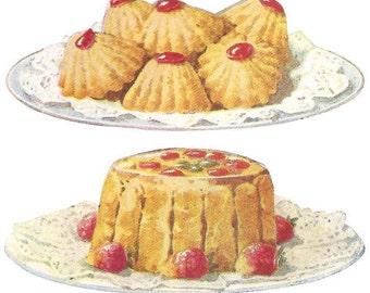1920 Antique Strawberry Recipes: Blancmange, Cake, Charlotte, Ice Cream, Jam, Pie, Pudding ... PDF Instant Download 002