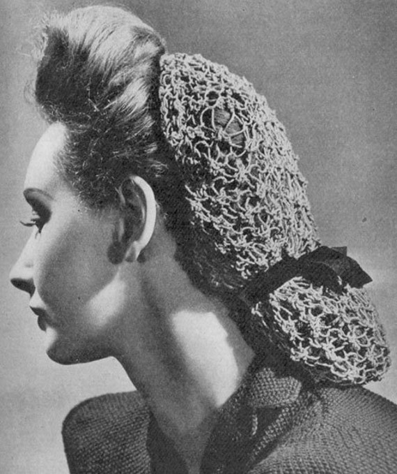 Knitting Pattern For Lace Snood : 1948 Lacy Snood Vintage Knitting Pattern PDF 021 by annalaia