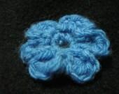 Baby Blue Crochete Flower Pin PIF